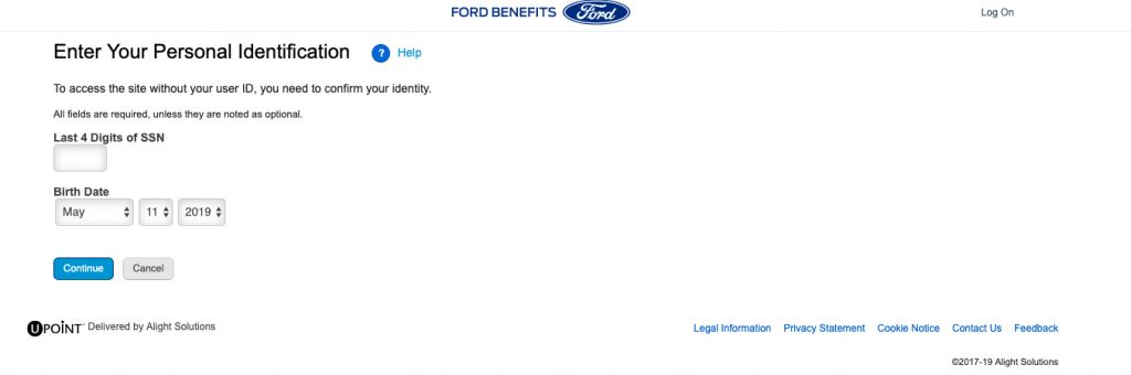 myfordbenefit forgot userid and password image