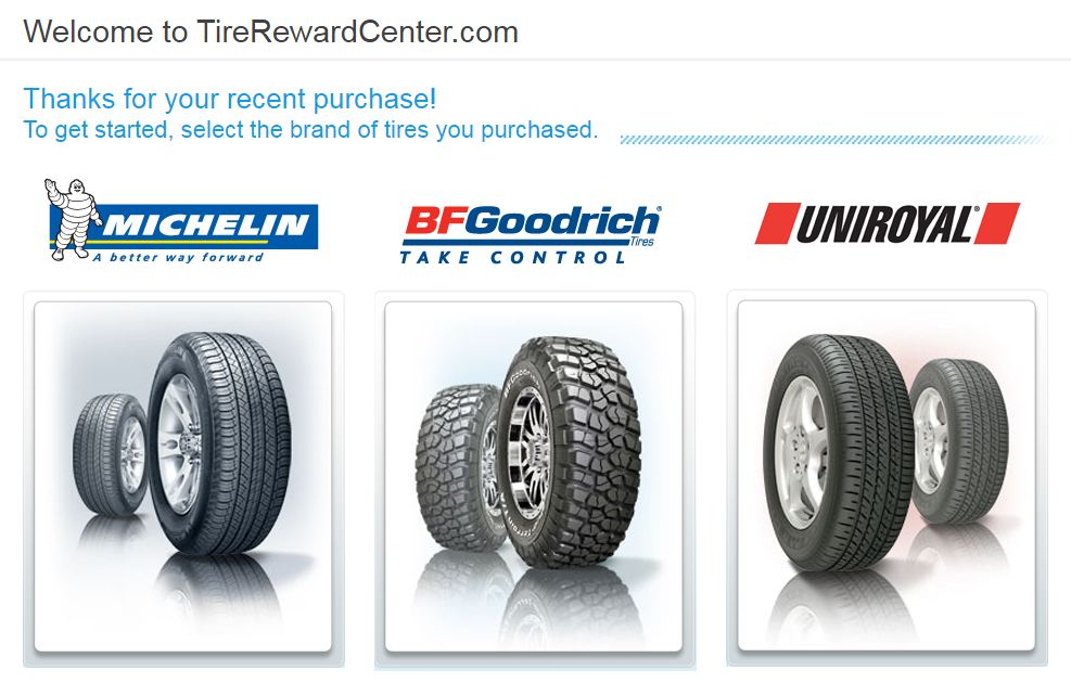 BFGoodrich Reward Center Login