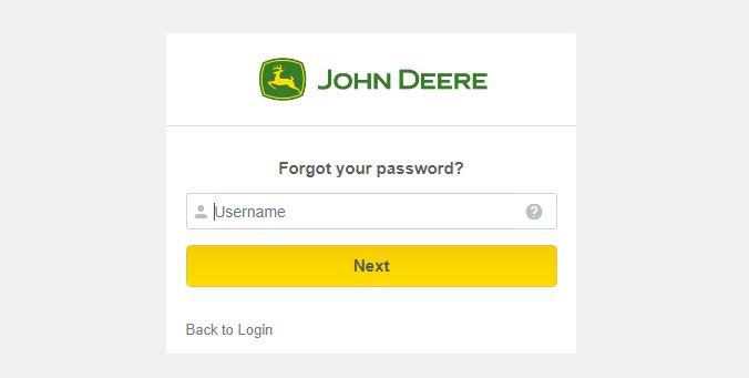 John Deere ess Login forgot password step 3
