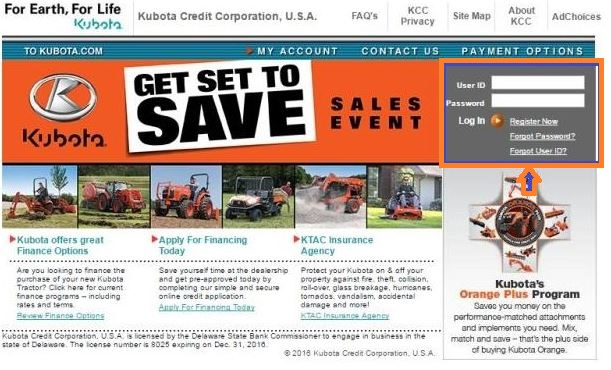 Kubota Credit USA Login