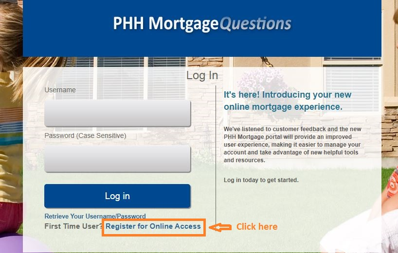 Mortgagequestions register step 1