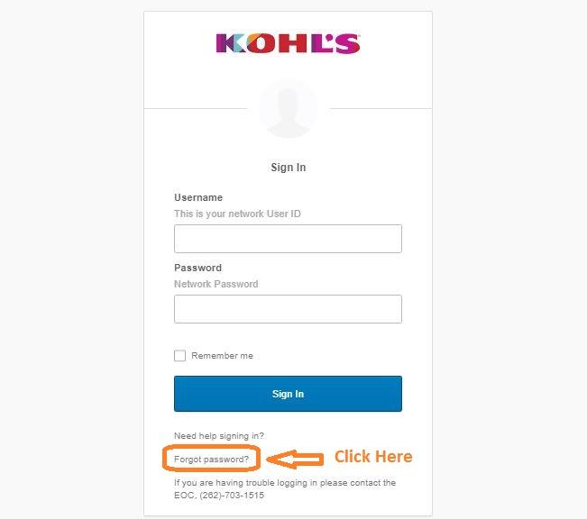 MyHR Kohls Login Forgot password step 2