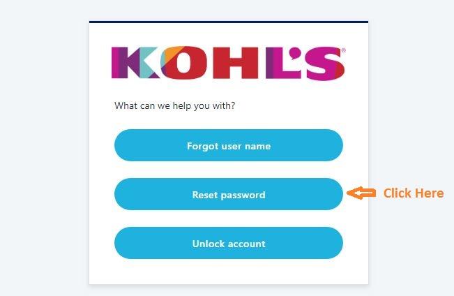 MyHR Kohls Login Forgot password step 3