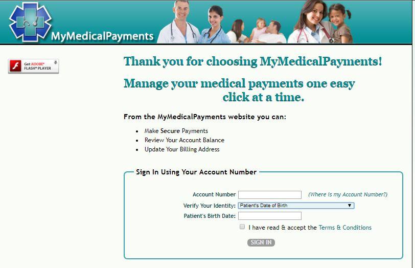 MyMedicalPayments Login steps