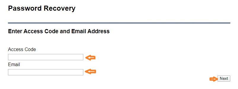 Therapute Login forgot password step 2
