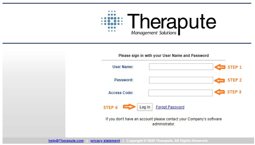 Therapute Login