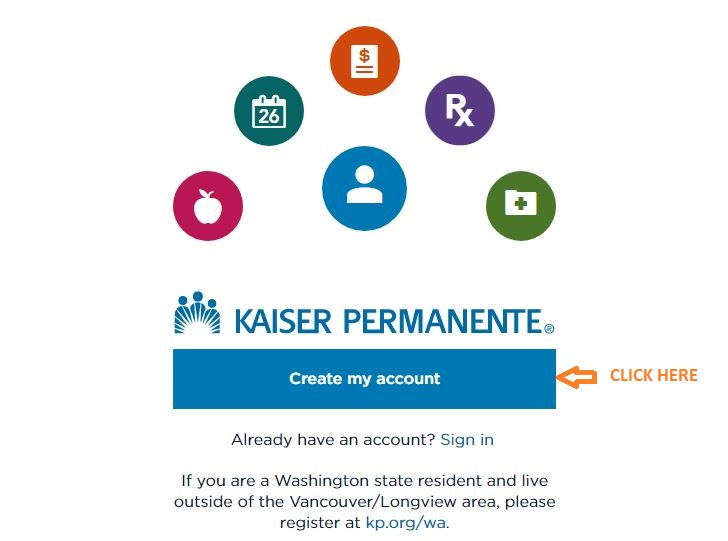 My HR Kaiser Registration step 2