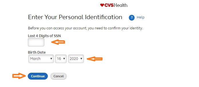 MyHR CVS – CVS Employee Registration step 2