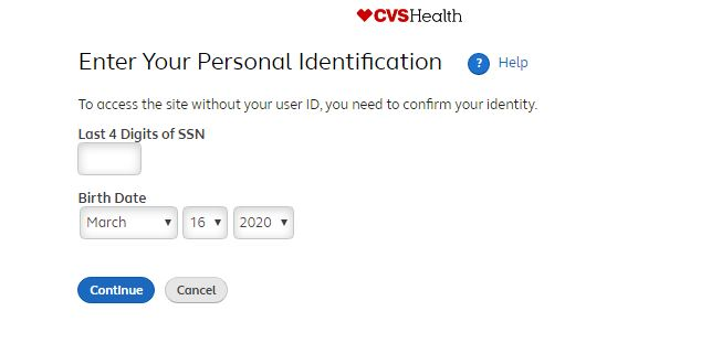 MyHR CVS Employee Login forgot password step 2