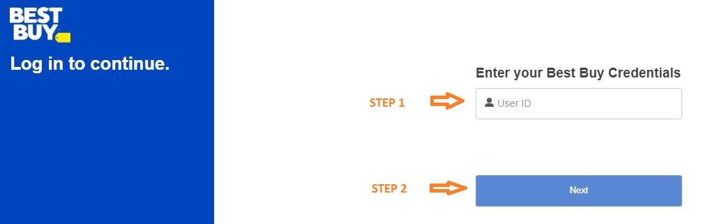 Myhr Best Buy login step 2