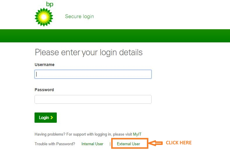 Myhr bp Login forgot password step 1