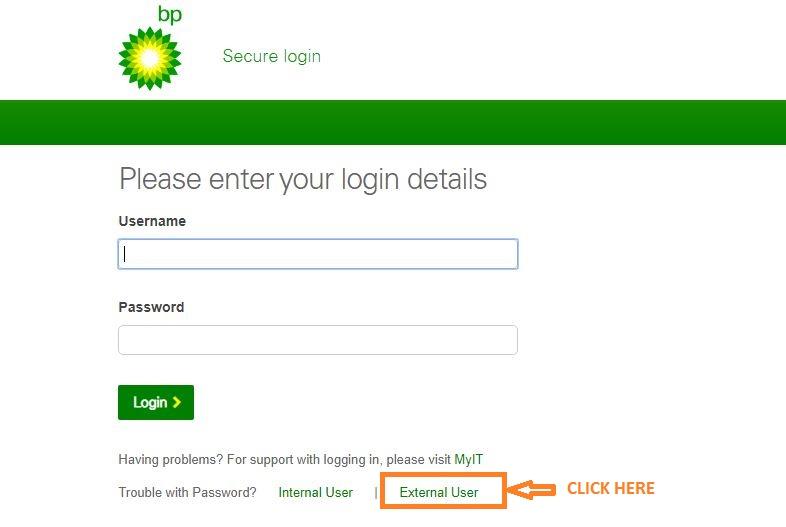 Myhr bp Login forgot password step 1