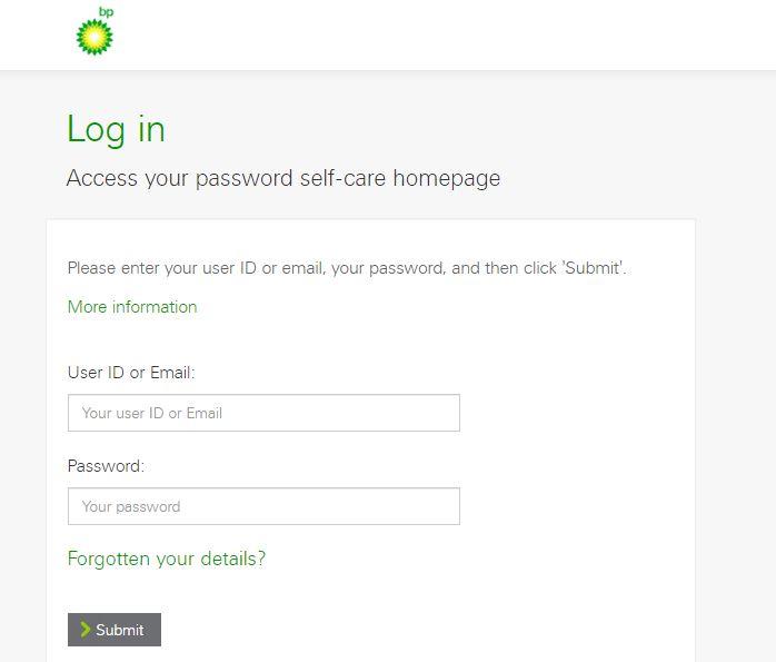 Myhr bp Login forgot password step 2